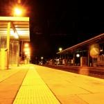 Bahnsteig auf dem Warener Bahnhof